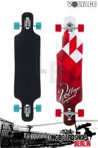 Voltage DT Weiß/Rot Longboard Komplett