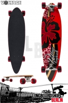Voltage Longboard Pintail Cruiser - Hibiscus