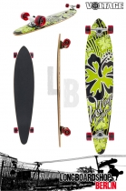 Voltage Longboard Pintail Cruiser -  Green