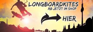 Longboardkiten: Dein Longboardkite ab jetzt bei uns im SHOP!